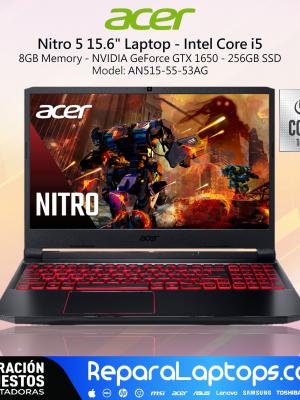 Repuestos Partes Laptops Costa Rica ACER NITRO 5 GAMING CORE i5 10ma NVIDIA GTX1650 8GB 256SSD 438